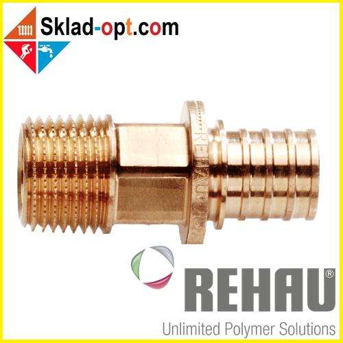 Перехідник Rehau RX Ø16 x 3/4 з зовнішньою різьбою. 366050-001