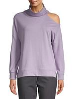 Женский оригинальный лиловый свитшот с открытым плечом Calvin Klein, фото 1