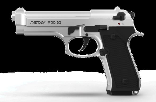 Стартовый пистолет Retay Mod 92 Chrome, фото 2
