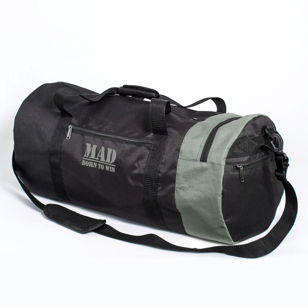 504b1394ad1e2 Большая спортивная сумка–тубус XXL 50L черно-серая от MAD   born to win™,  цена 693 грн., купить в Запорожье — Prom.ua (ID#1005767557)