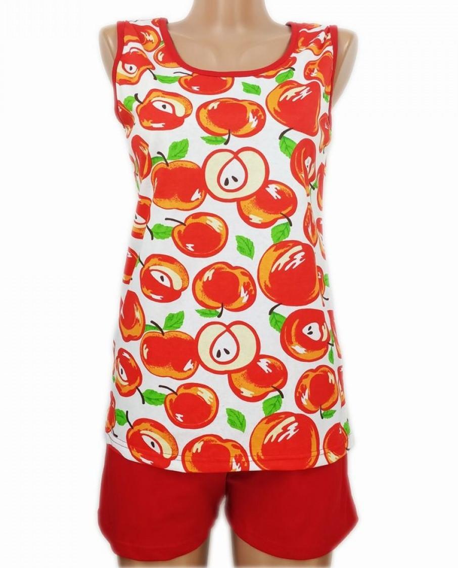Пижама больших размеров женская батальная комплект хлопковый майка с шортами