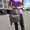 """Вместительный женский кожаный рюкзак """" Агрус Bronze"""