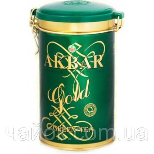 Чай Акbаr Green Gold 275 гр в жестяной банке