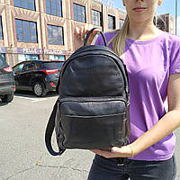 """Вместительный женский кожаный рюкзак """" Агрус Black, фото 1"""