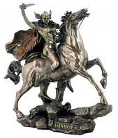 Настольная статуэтка Валькирия на коне из полистоуна в бронзе Veronese