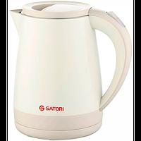 Електрочайник Satori 1,2 л/1600ВТ/диск/ цільномет. внутр. корпус з нерж. сталі з функці Satori 6110
