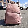 """Місткий жіночий шкіряний рюкзак """"Агрус Pink"""""""