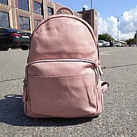 """Вместительный женский кожаный рюкзак """" Агрус Pink"""", фото 1"""