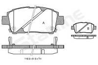 Тормозные колодки Toyota Prius, Тойота Приус