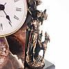 Каминный набор «Охота», часы (h-45х24х11см) та подсвечники 2шт (h-28х15х15 см) (250-3038), фото 6
