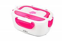 Ланч-бокс с подогревом от прикуривателя Electronic Lunchbox Розовый nri-22144, КОД: 378487