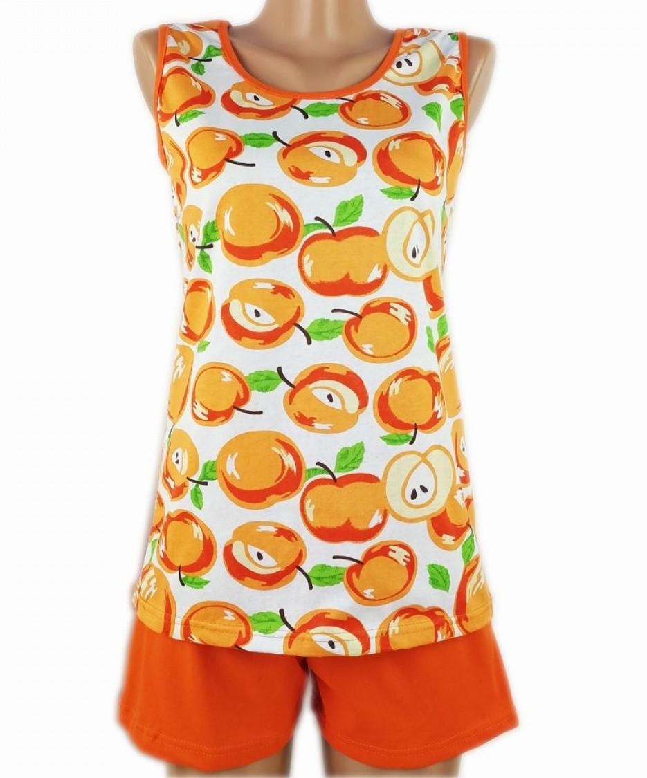 Пижама большая батальная женская домашняя хлопковая майка с шортиками