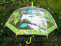 Красочный детский зонт трость + в подарок свисток, фото 2