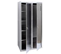 ШМХН400/2 шкаф хозяйственный из нержавеющей стали для хозяйственного инвентаря, H1800*800*500 мм