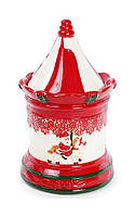 Банка Bona Карусель для новогодних сладостей 1.4 л Красно-белый psgBD-827-820, КОД: 945016