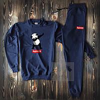 Спортивный костюм мужской Supreme Panda navy   весенний осенний костюм Свитшот + штаны ТОП качества