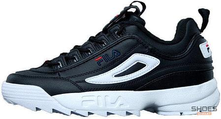 Женские кроссовки Fila Disruptor 2 Full Black White, Фила Дизраптор, фото 2