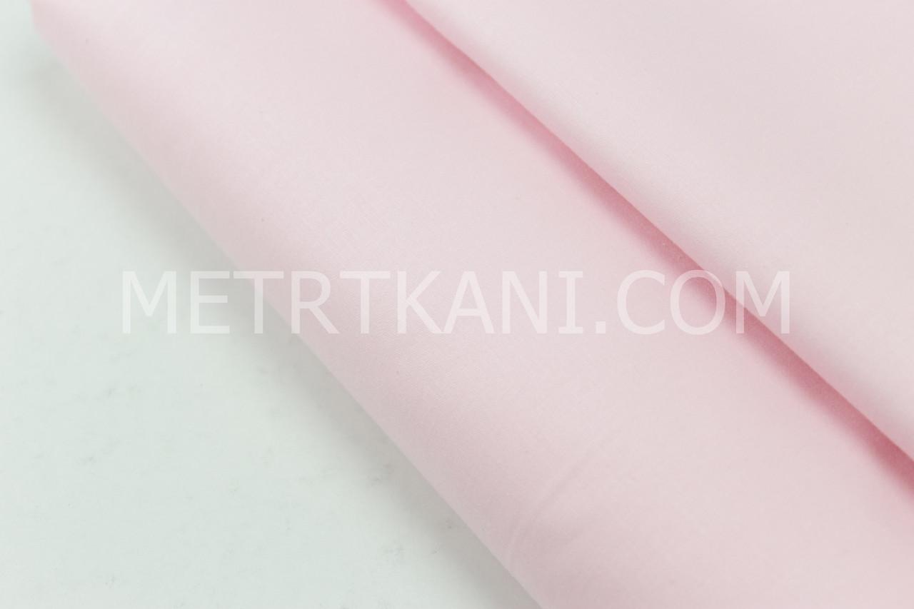 Сатин однотонный розового-пудрового цвета № 160-180 с