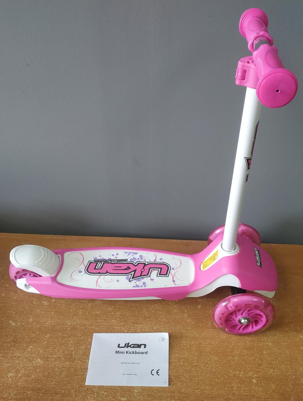 Самокат ukan розовый, scooter Германия