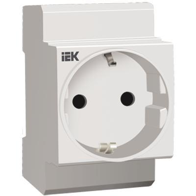 Розетка РАр10-3-ОП с заземляющим контактом на DIN-рейку (SHUKO), ИЭК
