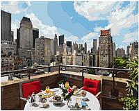 """Картина по номерам Royaltoys Картина по номерам. Brushme """"Завтрак в большом городе """" GX8390 SKU_GX8390"""