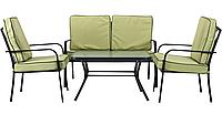 Комплект Veracruz черный/салатовый (Диван 2-хместный+2 кресла+стол) ТМ AMF
