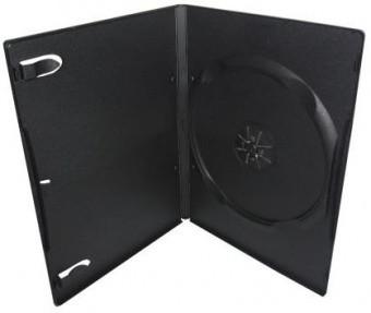 Бокс для 1 DVD диска 7mm Black глянцевая пленка