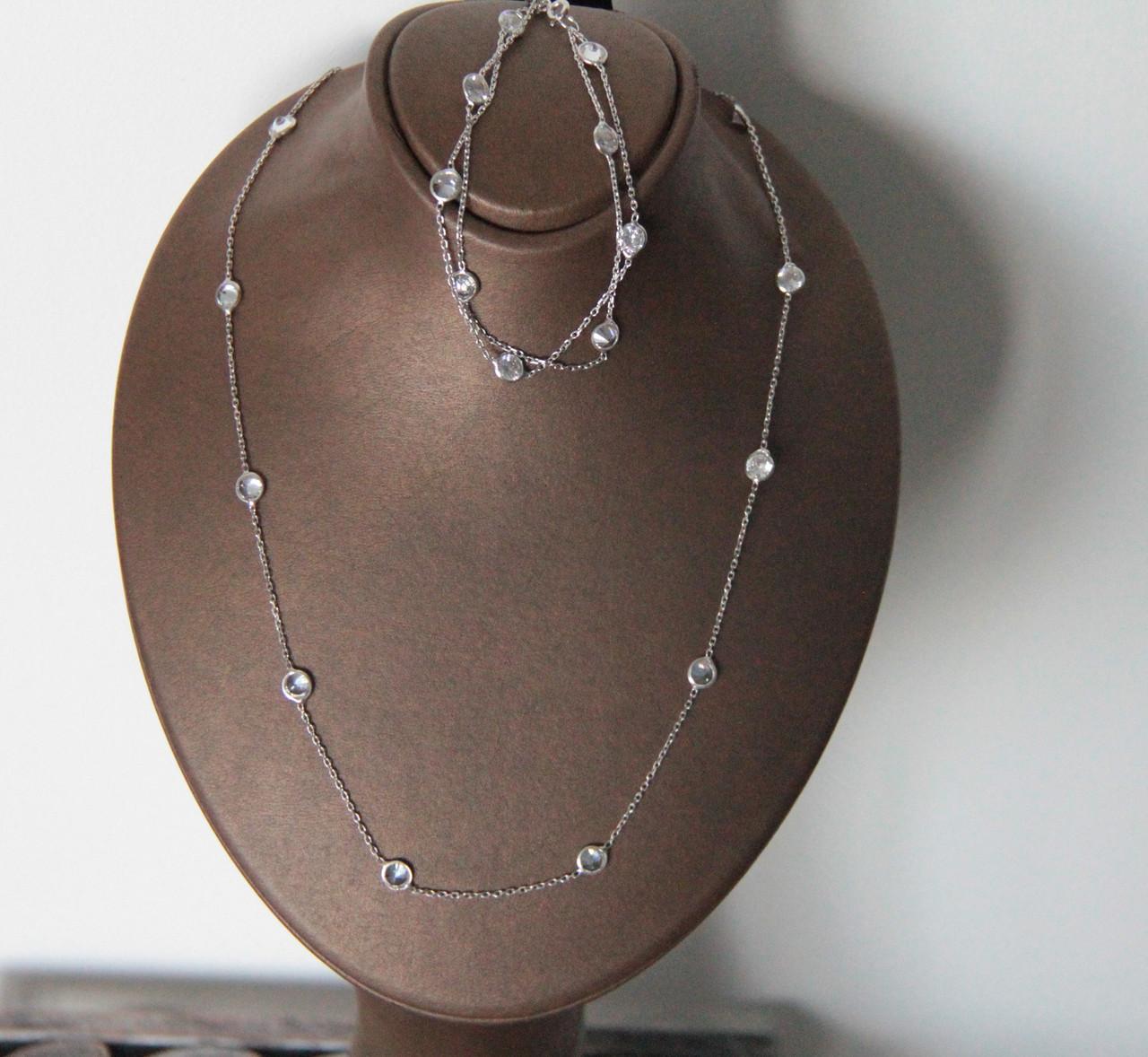 Набор  украшений Мої прикраси из серебра черн. и бел. камни