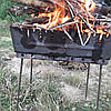 Мангал-чемодан на 10 шампуров складной-3мм,,Супер качество, Отличный подарок,не боиться дров