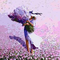 """Картина по номерам Идейка Картина по номерам. Люди """"Цветочное поле"""" 40*40см * KHO2660 SKU_KHO2660"""