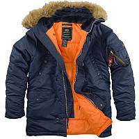 Парка Alpha Industries Slim Fit N-3B S Replica Blue Orange Alpha-00001-S, КОД: 717934