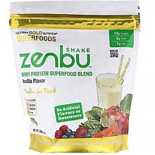 """Сывороточный протеин California GOLD Nutrition, Superfoods """"Zenbu Shake"""" со вкусом ванили (540 г)"""