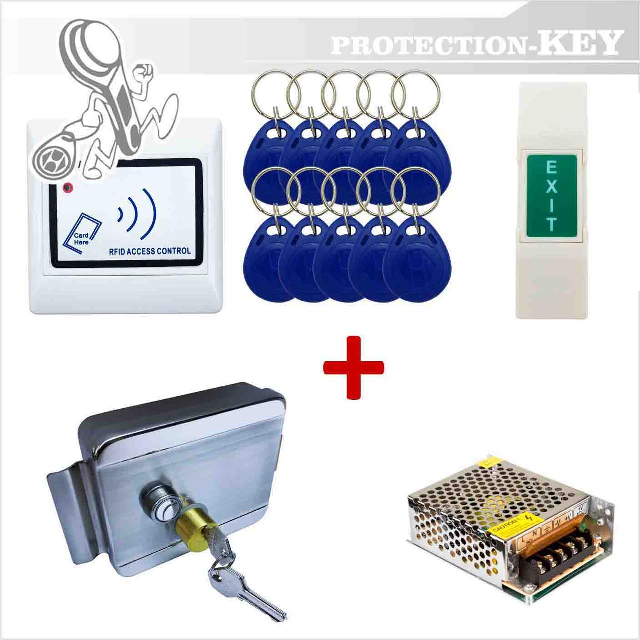 Комплект СКД №3 RFID-кнопка + электромеханический замок