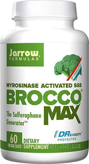 Экстракт брокколи с мирозиназой 60 капс онкопротектор при аутизме от хеликобактер Jarrow Formulas USA