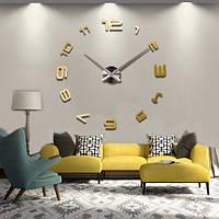 Настенные 3D часы 4208 Золотистые 16-4208-3, КОД: 313373