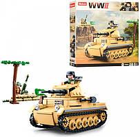 Конструктор Royaltoys Конструктор SLUBAN M38-B0691 военный, танк, фигурка, 356 деталей SKU_M38-B0691