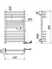 Полотенцесушитель электрический Mario Гера-Люкс-I 800x500 + таймер-регулятор, фото 4