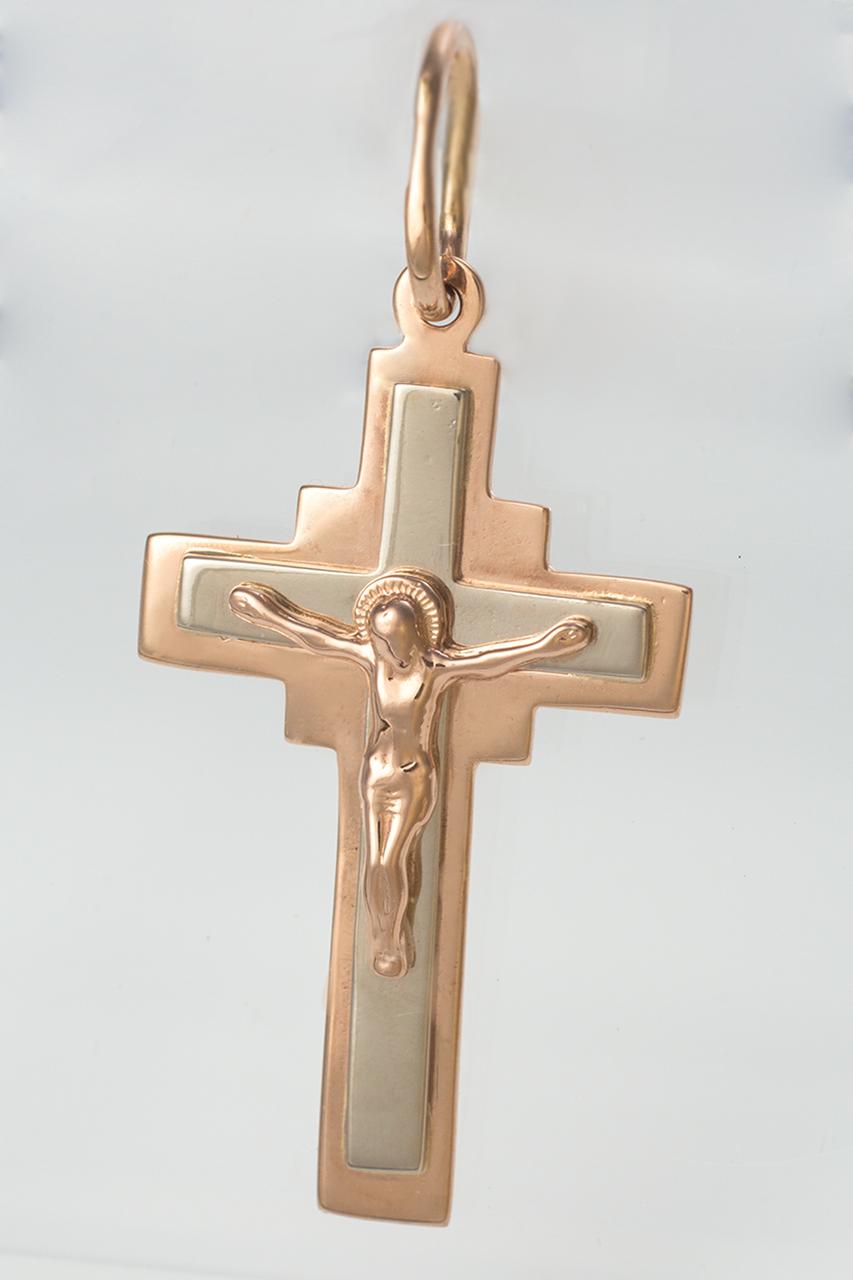 Золотой детский крестик. ПП480