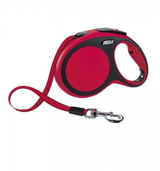 Поводок-рулетка Flexi NEW COMFORT L лента (8 м; до 50 кг), красный