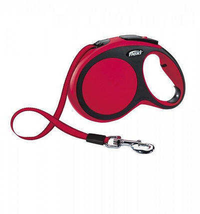 Поводок-рулетка Flexi NEW COMFORT L лента (8 м; до 50 кг), красный, фото 2