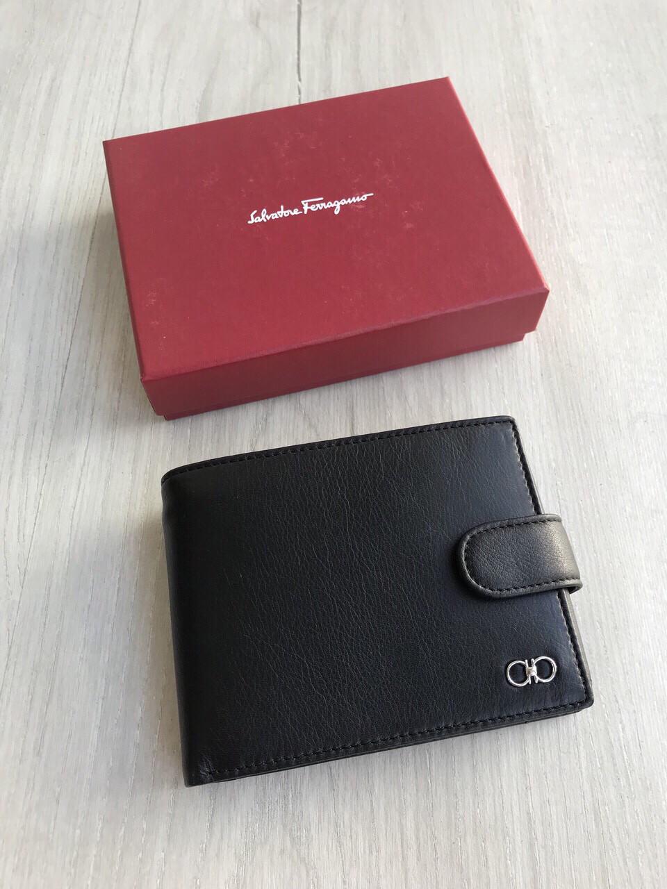 Портмоне кошелёк на кнопке мужской Ферагамо