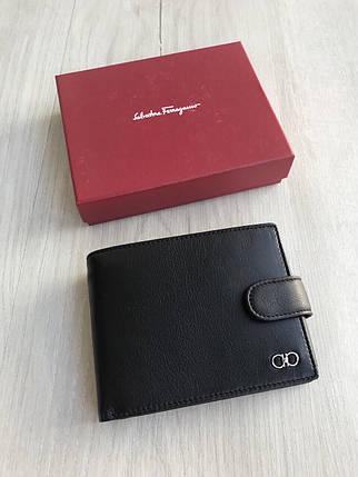 Портмоне кошелёк на кнопке мужской Ферагамо, фото 2