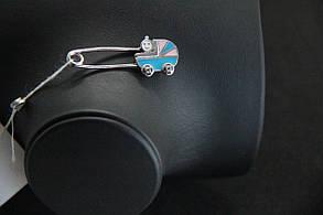 """Шпилька з срібла 925 """"колясочка"""""""