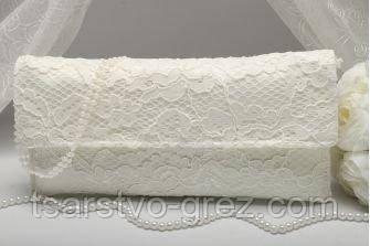 Свадебный клатч кружевной айвори