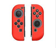 Силиконовый чехол ручка 2 шт. для Joy-Con Nintendo Switch / есть стекло красный