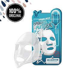 Тканевая маска для увлажнения кожи лица ELIZAVECCA Aqua Deep Power Ringer Mask