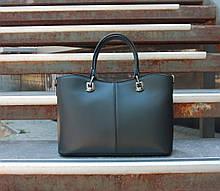 Большая женская сумка натуральная кожа Италия
