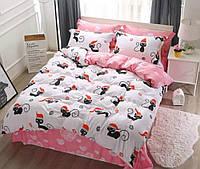 Кошечка сердечки, постельное белье сатин Двуспальный