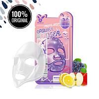Тканевая фруктовая маска для лица ELIZAVECCA Fruits Deep Power Ringer Mask