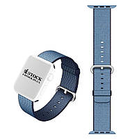 Ремешок Apple Watch 38/40mm Navy/Tahoe Blue Stainless St Buckle Woven Nylon Band (MP222AM/А)